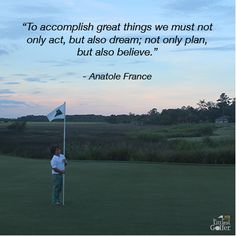 this is a human truth! (works on a golf course too)#anatolefrance #thelandingsclub #startyoungerplaylonger  #thelittlestgolfer