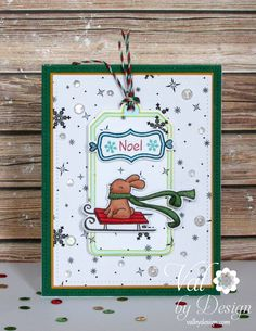 Lawn Fawn stamps & dies & ink & twine,  DRS digi stamp,  Pretty Pink Posh sequins,  Copic Markers {ValByDesign, 2015}