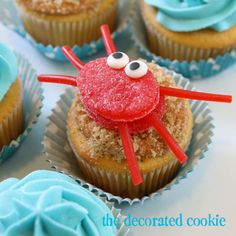 gumdrop crab cupcake topper. I am going to so make these for our dance party!