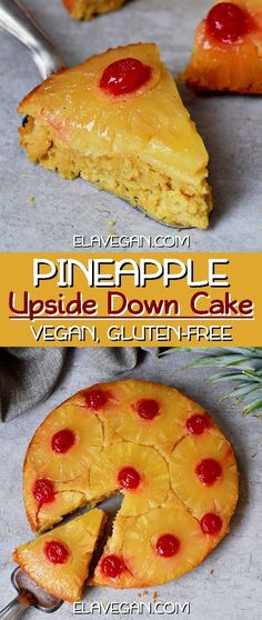 Vegan pineapple upside down cake from scratch! Recipe is dairy-free, egg-free, gluten-free, refined sugar-free, healthier than most classic cakes & easy. Vegan Dessert Recipes, Delicious Vegan Recipes, Vegan Sweets, Vegan Food, Yummy Food, Cake Recipes From Scratch, Easy Cake Recipes, Pineapple Upside Down Cake From Scratch, Vegan Pineapple Upside Down Cake Recipe