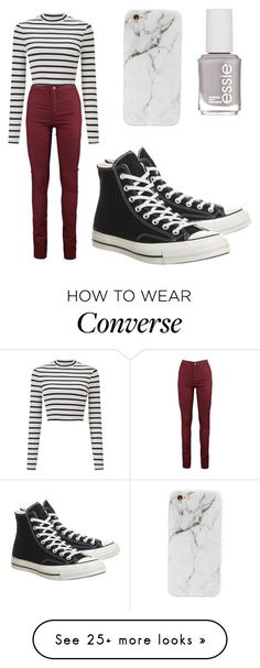 """#bored"" by paris-is-for-me on Polyvore featuring Miss Selfridge, Converse, Forever 21 and Essie"