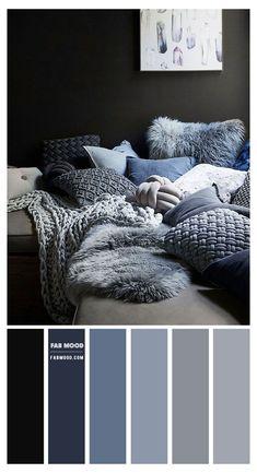 Blue Bedroom Colors, Navy Blue Bedrooms, Bedroom Colour Palette, Bedroom Color Schemes, Paint Colours For Bedrooms, Color Schemes Colour Palettes, Paint Color Schemes, House Color Schemes, House Colors