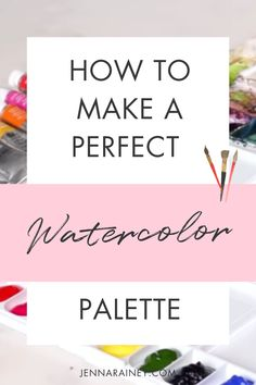 How to make a watercolor palette. In this video I show you how I set up a brand new palette—the 12 Winsor & Newton colors I love, the order I put them in, why I put them in that order, and finally how to prep the surface of the mixing wells to prevent beading. Step By Step Watercolor, Easy Watercolor, Watercolor Design, Watercolor Techniques, Wells, Beading, Palette, How Are You Feeling, Surface