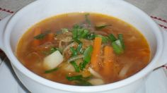 Thai Red Curry, Food And Drink, Soup, Tasty, Ethnic Recipes, Diet, Fimo, Soups, Chowder