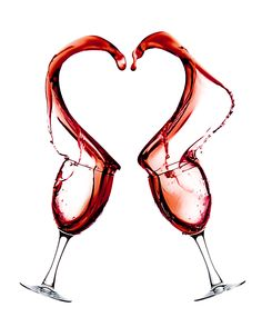 Red Wine Heart Splash spill shaped splash from two wine glasses. Red wine color.  Creative Art Photography images by JC Kirk of Old 81 Studios.  #Red #Heart #Love #redheartlove #romanceart #art #wallart #artprints #wine #ilovewine #winephotos