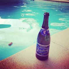 Time to drink champagne ! #summer #swimmingpool #champagne - @champagnesebille- #webstagram
