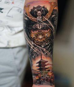 Warrior Tattoo Sleeve, Warrior Tattoos, Sleeve Tattoos, Tattoo Ink, Tattoo For Son, Tattoos For Guys, Cool Tattoos, Tattoo Japanese Style, Japanese Tattoo Designs