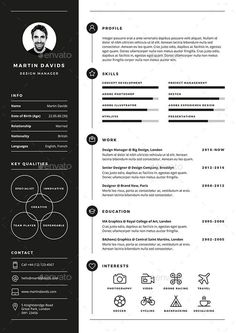 CV / Resume CV / Resume is a clean, elegant and professional resume template. - Career MindMap - CV/Resume CV/Resume is a clean elegant and professional resume template desig CV / Resume CV Creative Cv Template, Modern Resume Template, Resume Design Template, Resume Templates, Free Cv Template, Professional Resume Template, One Page Resume Template, Professional Resume Examples, Cv Examples