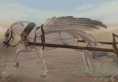 Horse Drawings, Animal Drawings, Art Drawings, Fantasy Kunst, Fantasy Art, Horse Artwork, Horse Paintings, Pastel Paintings, Unicorn Art