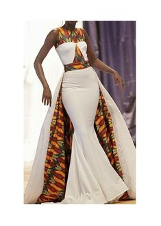 jadoreafrica African Dress with Cape / African Dresses / African Maxi Dress / African Clothing / Ankara Maxi Dress / African Prom Dress / African Print African Wedding Attire, African Attire, African Wear, African Style, African Print Wedding Dress, African Weddings, African Dress Styles, African Women, Ankara Styles