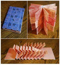 Movie Ticket Flag Book