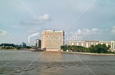 this is the town of lagos on river niger in nigeria west africa West Africa, Image Now, New York Skyline, Stock Photos, Water, Travel, Lakes, Gripe Water, Viajes