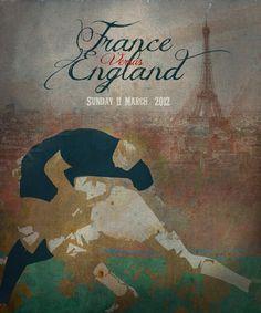 France v England Rugby Artwork