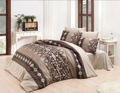 Dose Of Modern Valerie Ranforce King Quilt Cover Set (FR) - Brown Beige Cream Double Quilt, Single Quilt, Quilt Cover Sets, Brown Beige, Comforters, Duvet, Blanket, Bed, Interior