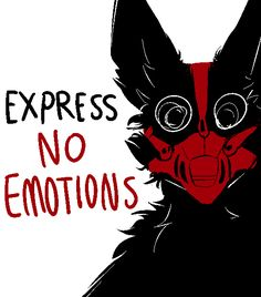 "anon; Could you do one with a wolf wearing a muzzle with the words ""express no emotions"""