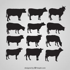 Head of a Cow — AI Illustrator Bull Images, Black Cow, Horse Logo, Animal Silhouette, Silhouette Cameo, Ai Illustrator, How To Make Toys, Cow Art, Vintage Typography