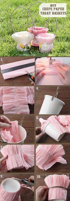 Crepe Paper Treat Baskets