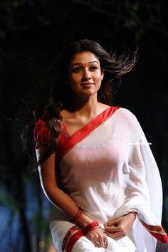 Nayanthara Dance Stills From Krishnam Vande Jagadgurum Telugu Movie (26) at Nayanthara In White Saree From KVJ Movie  #Nayanthara