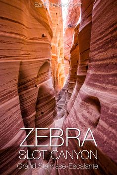 Zebra Slot Canyon Hike in Grand Staircase-Escalante National Monument, Utah.