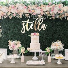 Quinceanera Party Planning – 5 Secrets For Having The Best Mexican Birthday Party Deco Baby Shower, Baby Shower Vintage, Shower Party, Bridal Shower, Baby Shower Desert Table, Fancy Baby Shower, Baby Shower Roses, Baby Shower Backdrop, Buffet Dessert