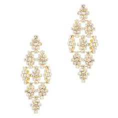 Give your look the spotlight with the glamorous Adriana chandelier earrings. The abstract-style features CZ flower stations linked together to create fun earrings you'll love to wear paired with simple basics, and be the star of any day's show.  Find it on Splendor Designs