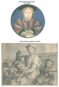 Tudor Era children wore miniature versions of adult dress.