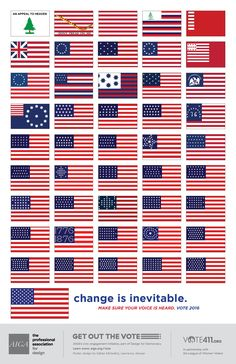 AIGA's Get Out the Vote invites designers to create nonpartisan posters that inspire the American public to participate in the general and local elections. Get Out The Vote, Inevitable, Getting Out, Design Inspiration, Detail, Printing, Posters, Change, Pretty