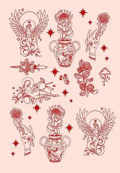 Tattoos And Body Art tatoo flash Lotusblume Tattoo, Piercing Tattoo, Tattoo Drawings, Tattoo Sketches, Tiny Tattoo, Tattoo Names, Gold Tattoo, Hand Eye Tattoo, Dark Skin Tattoo