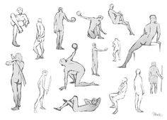 Some gestures from life drawing!