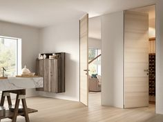 Interior Wood Doors What You Must Look For While Buying Interior Wood Doors Home Room Design, Home Interior Design, Invisible Doors, Flush Doors, Inside Doors, Room Doors, Entry Doors, Pivot Doors, Internal Doors