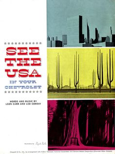 See The USA booklet. Illus. by Eyvind Earle, 1948.