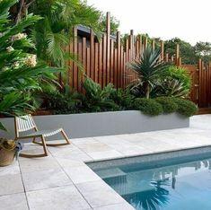 Bali Garden, Backyard Pool Designs, Pool Backyard, Backyard Furniture, Swimming Pools, New Homes, Exterior, Instagram, Outdoor Decor