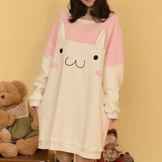 Fabric+material:+Cotton  size:+free+size Length:84cm, Shoulder:33-40cm Bust:118cm, Sleeve:70cm,  Color+:+pink+and+white,+black+and+white