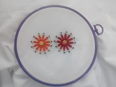 Hand Embroidery - Lazy Daisy with Beads Stitch - YouTube