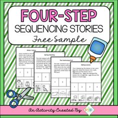 FREE set of four sequencing stories are a sample from my Four Seasons Sequencing Set. These materials are great for targeting a variety of speech and language goals including auditory comprehension, story retell, sequencing information, answering questions, sentence structure and articulation in conversation.You can find more sequencing sets in my store including 3-step sets, 4-step sets, seasonal themed sets and discounted bundles.How to Use:Print a page and cut off the 4 pictures at the…