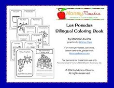 Introduce your students to Las Posadas vocabulary with this fun #printable coloring book. Features those items most closely associated with the celebration including the peregrinos, the sheet music, luminarias, and various foods typically served at las posadas.