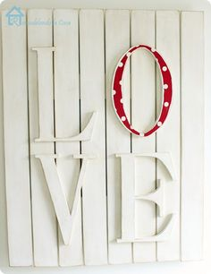 Valentine's Love Plaque inspired by Pottery Barn