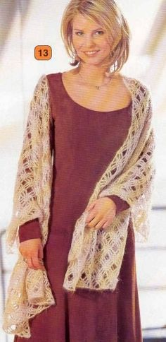 Free diagram pattern Shawl, wrap, scarf, coverup, prayer shawl  étole beige