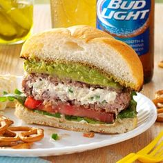 Jalapeno Popper Burgers Recipe from Taste of Home -- shared by Jo Davison of Naples, Florida