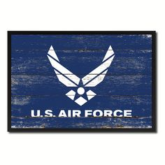 US Air Force Military Flag Canvas Print, Picture Frame Home Decor Wall Art Gifts