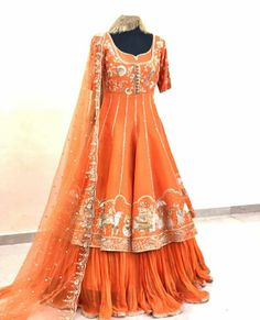 Pakistani Fashion Party Wear, Party Wear Lehenga, Indian Bridal Fashion, Pakistani Outfits, Heavy Dresses, Types Of Dresses, Nice Dresses, Awesome Dresses, Wedding Dresses For Girls