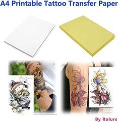 10 Sheets DIY Temporary Tattoo Transfer Paper Printable Customized for Inkjet Printer Halloween Tattoos Tattoo Stencil Paper, Tattoo Transfer Paper, Tattoo Transfers, Best Temporary Tattoos, Temporary Tattoo Paper, Diy Tattoo, Non Permanent Tattoo, Printable Tattoos, Temp Tattoo