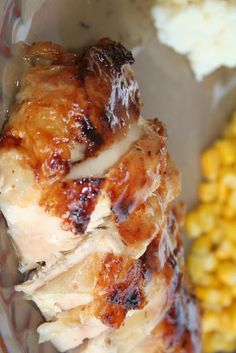 Honey Roasted Chicken. I mafe this for dinner on Mon.  Super easy and yummy.   There were no leftovers