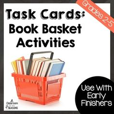 This product includes 40 Task Cards to be used with your students book baskets or with your school or classroom libraries.  They can be used with early finishers or in a literacy station.Each task card reviews a language arts skill which students will search for in a book.