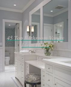 There are endless luxuries that could be added to your master bathroom by having a design or remodeling project today! Remodeling or designing your ma... Compact Bathroom, Small Bathroom Vanities, Modern Bathroom Decor, Master Bathrooms, Basement Bathroom, Amazing Bathrooms, Modern Decor, Small Vanity, Double Vanity