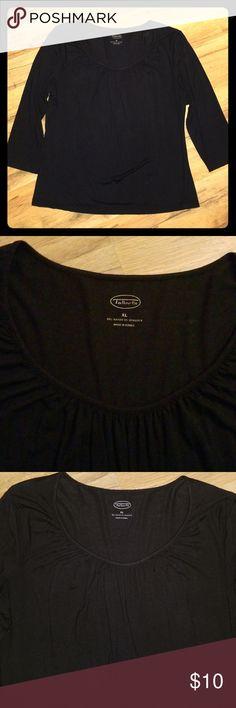 cd8a061c6c Talbots Black Blouse sz XL Gently used 95% Rayon 5% Spandex Black Talbots  Tops Blouses