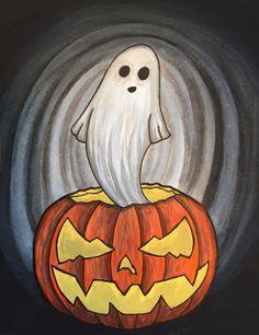 Every day is Halloween Halloween Canvas Paintings, Fall Canvas Painting, Halloween Painting, Autumn Painting, Diy Canvas Art, Cute Halloween Drawings, Halloween Rocks, Halloween Pictures, Halloween Art