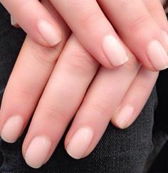 """Come see us for your barely there """"naked"""" nails, the mani trend everyone's talking about."""