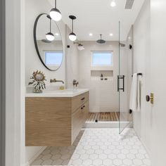 20 Impressive Mid Century Modern Bathroom Designs You Must See Mid Century Modern Bathroom, Modern Small Bathrooms, Modern Bathroom Design, Bathroom Designs, Bathroom Ideas, Small Master Bath, Master Bath Remodel, Modern Shower, Bathroom Inspiration