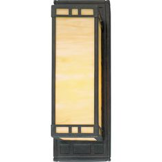Shop For The Progress Lighting Weathered Bronze Arts U0026 Crafts Single Light  Bathroom Sconce With Light Honey Art Glass Panels And Save.
